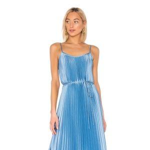 Vince Pleated Blue Cami Dress XL